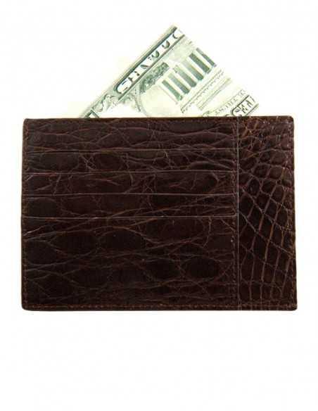 Matte Alligator Business Credit Card Case