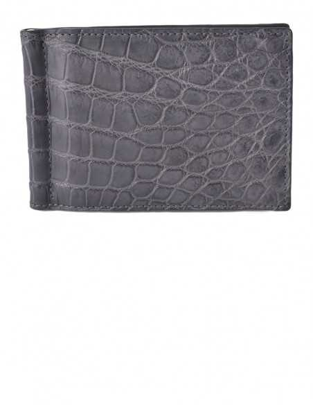 Glossy Alligator Money Clip Wallet