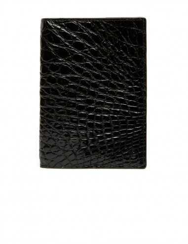 Men's Glossy Alligator Vertical Wallet