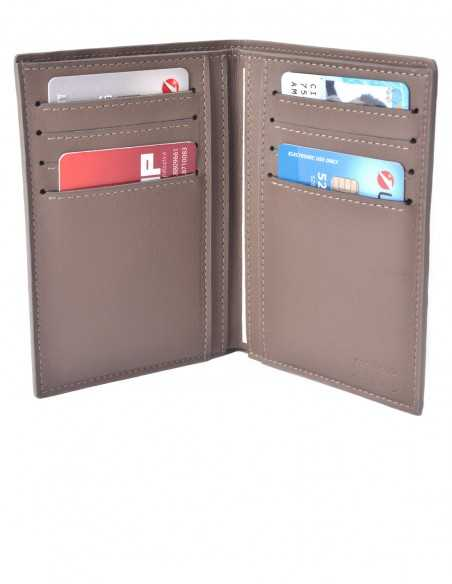 Men's Matte Alligator Vertical Wallet Calfskin Lining