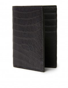Matte Alligator Vertical Bifold Wallet
