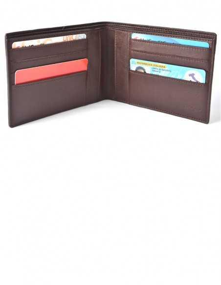 Men's Horizontal Elephant BiFold Wallet Interior Organization