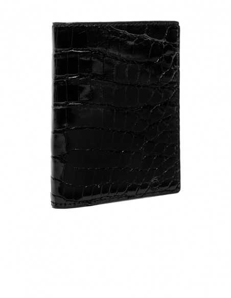 Glossy Alligator Compact Wallet