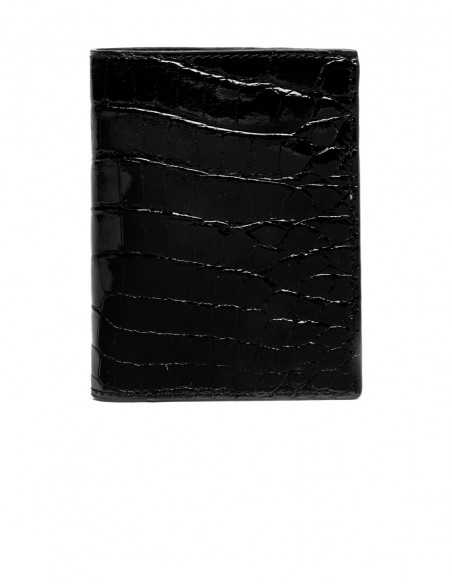 Men's Alligator Compact Vertical Wallet