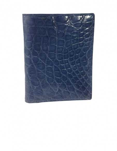 Blue Alligator Flank Compact Wallet