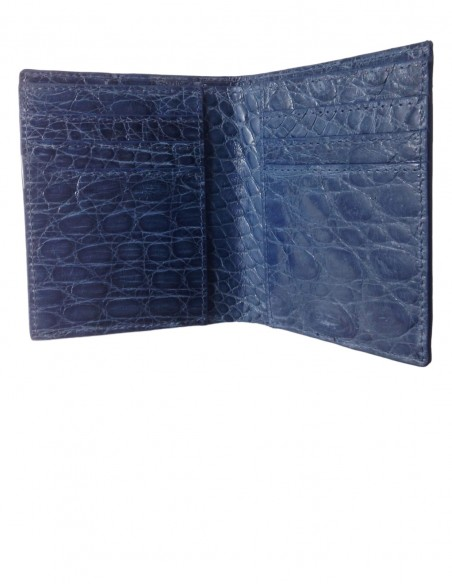 Men's Compact Alligator Wallet Alligator Lining