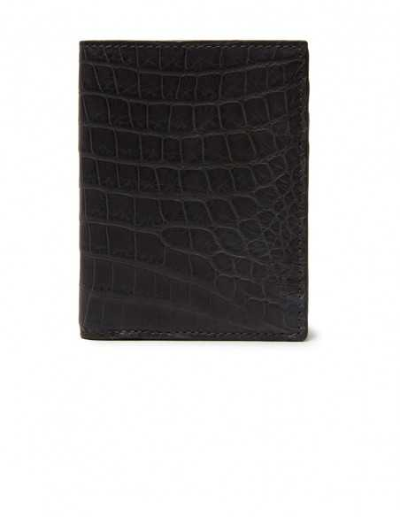 Men's Matte Alligator Compact Wallet