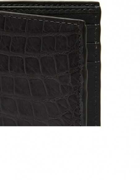 Business Matte Alligator Short Wallet