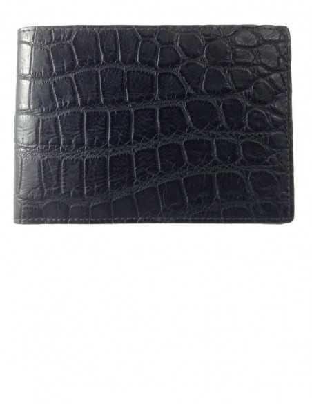 Matte Black Alligator Bifold Men's Wallet