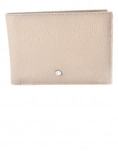Men's Textured Calfskin Horizontal Wallet