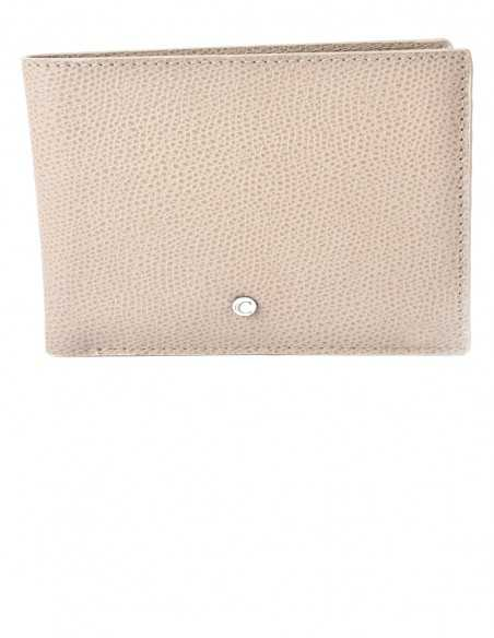 Men's Textured Calfskin Horizontal Wallet