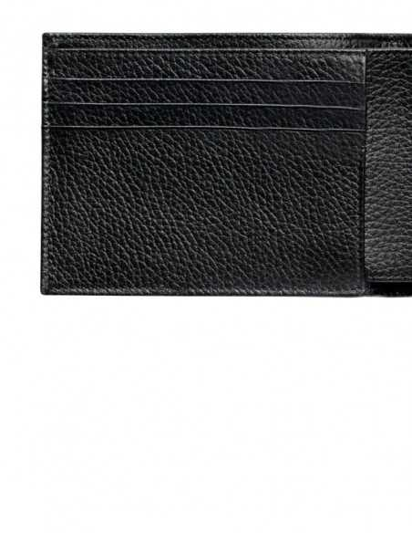Classic Horizontal Men's Wallet Pebbled Calfskin Lining