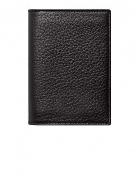 Soft-grain Dark Tan Pebbled Calfskin Vertical Wallet