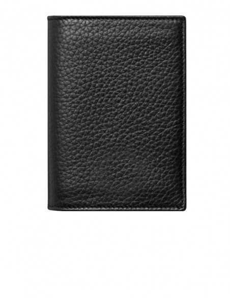 Soft-grain Black Pebbled Calfskin Vertical Wallet