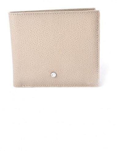 Men's Square Textured Calfskin Bifold Wallet
