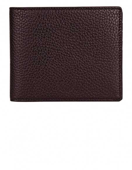Dark Tan Soft-grain Calf Bifold Square Wallet