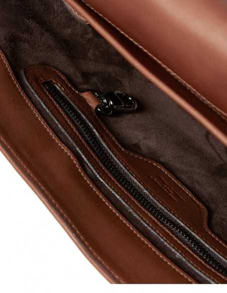 Smooth Box Calf Messenger Bag Interior Organization