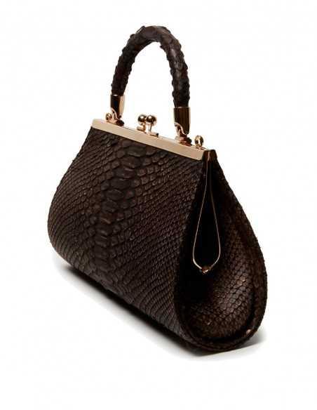 Python skin Clutch Bag