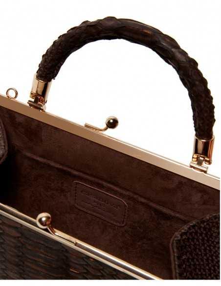 Woman's Python Skin Fashion Clutch Bag