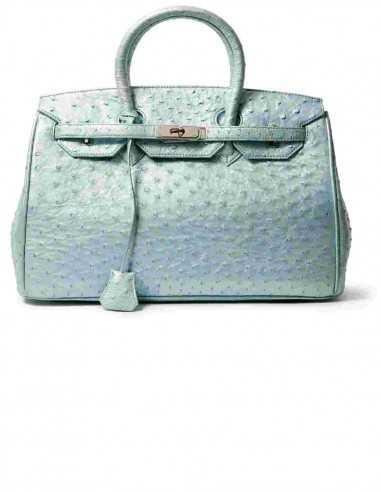 Audrey Crossbody Ostrich Fashion Bag with Calf lining