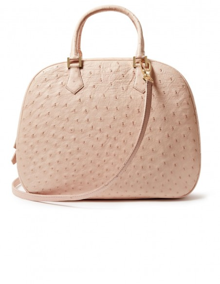 Catherine Satchel Ostrich Bag for an Elegant Outfit