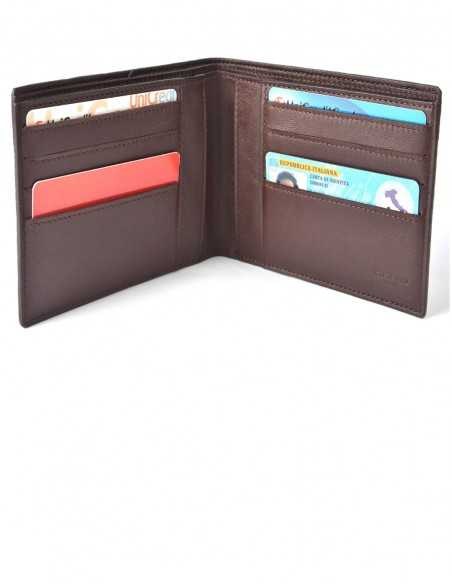 Men's Square Elephant BiFold Wallet Interior Organization