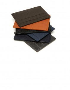 Slim Credit Card Case made of Textured Calfskin