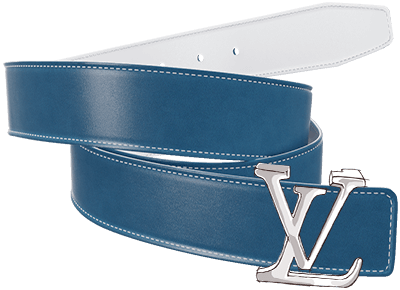 Smooth Belt Strap for Genuine LV Detachable Buckle