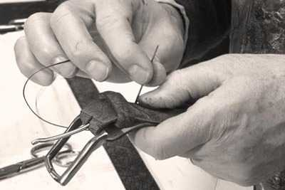Craftsmanshp , Stitching a Signature Buckle