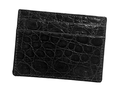 Black Alligator Small Credit Card Case