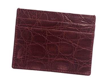 Bordeaux Small Credit Card Case