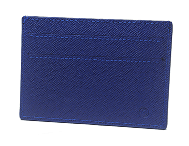 Electric Blue Calfskin Small Credit Card Case