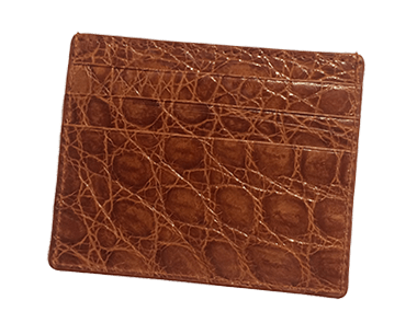Honey Alligator Small Credit Card Case
