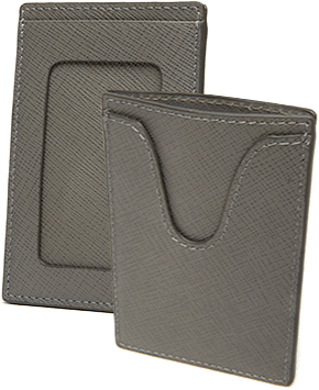 Textured Calfskin Badge Holder and SuperSlim Credit Card Case