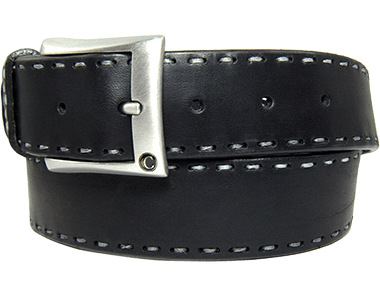 Executive-Raw Cut Buff Leather Men's Belt Handstitched