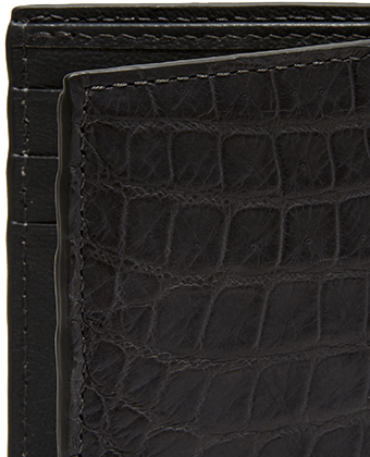 Men's Matte Alligator Compact Vertical Wallet