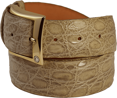 Exotic Light Brown Matte Alligator Men's Belt