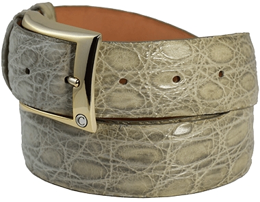 Matte Maracuja Alligator Belt for Man