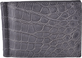 Alligator Belly Money Clip Wallet Outside