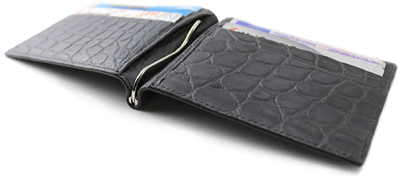 Slim Alligator Money Clip Wallet