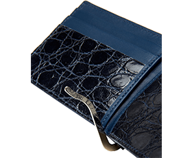 Money Clip Wallet Partial Alligator Lining
