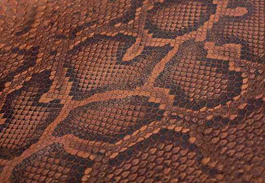 Molurus Matte Python Leather