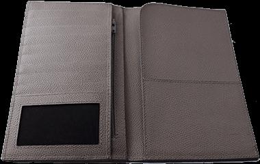Full-grain Printed Calf Travel Wallet internal disposition