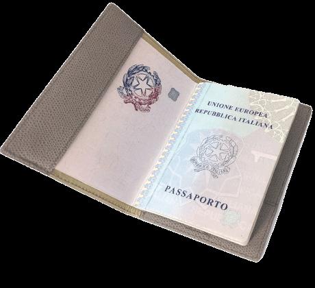 Italian Calfskin Passport Holder