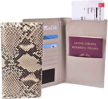 Snakeskin Travel Wallet Diamond Python