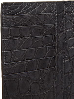 Tuxedo Wallet Alligator Belly Lining