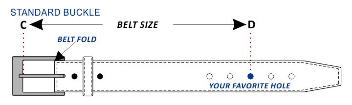 Standard Buckle Belt Size Guide