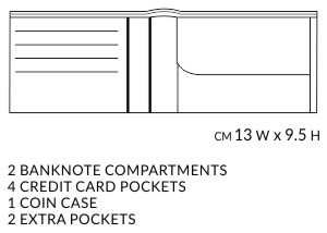 Horizontal Wallet with Coin Case