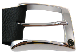 Shiny Silver Casual Buckle